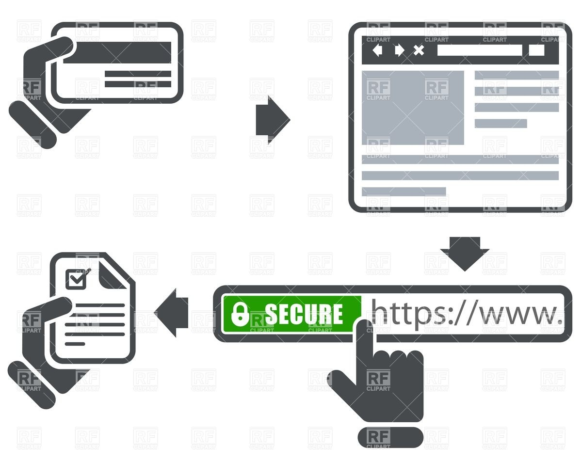Secure Online Payment Icons   Address Bar And Browser 35534 Business