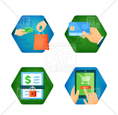 Secure Payment And Online Shopping Icons   Safe Purchase 88661