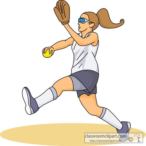 Softball Player Clipart - Clipart Kid
