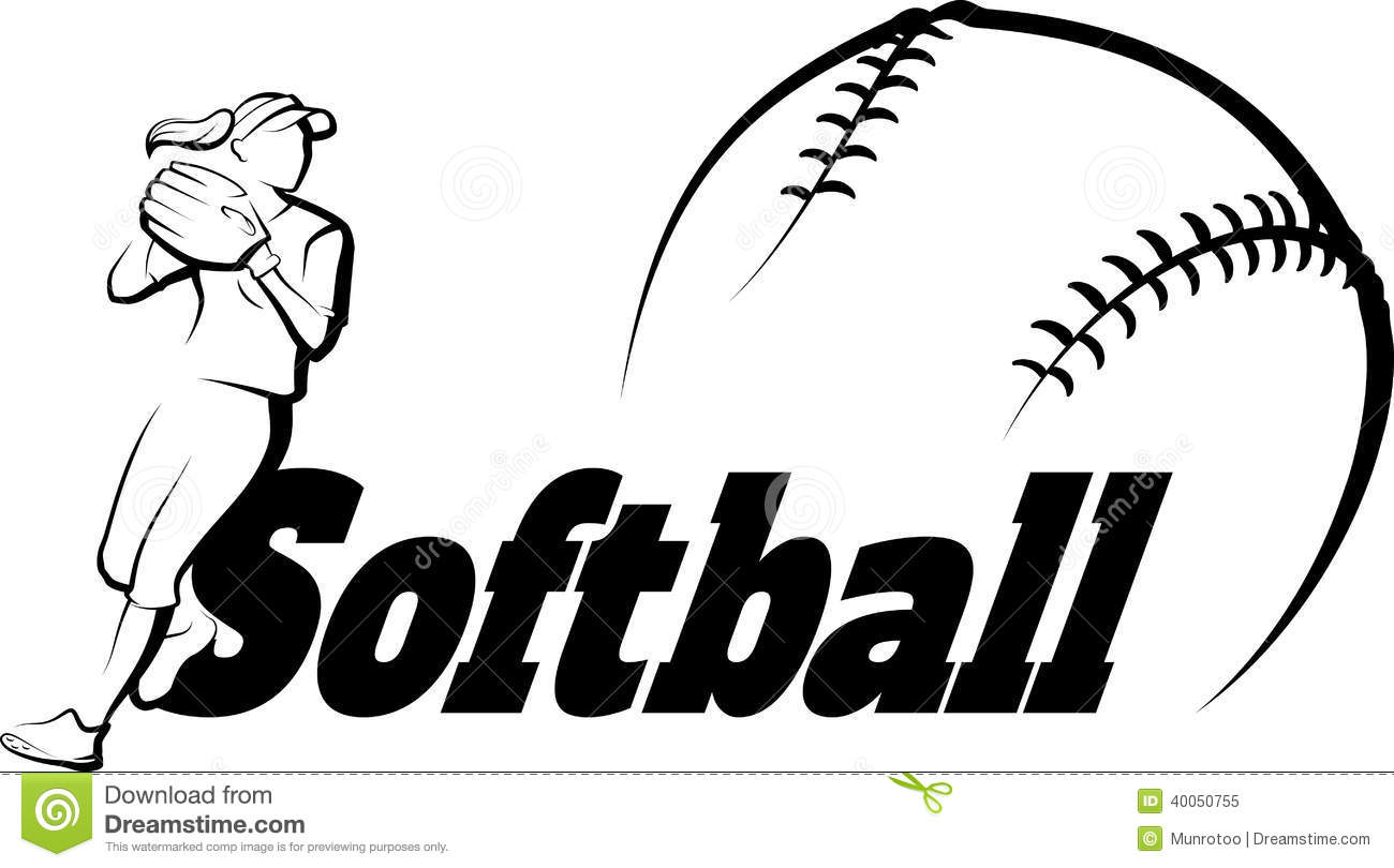 Softball player clipart clipart suggest for Softball vector free
