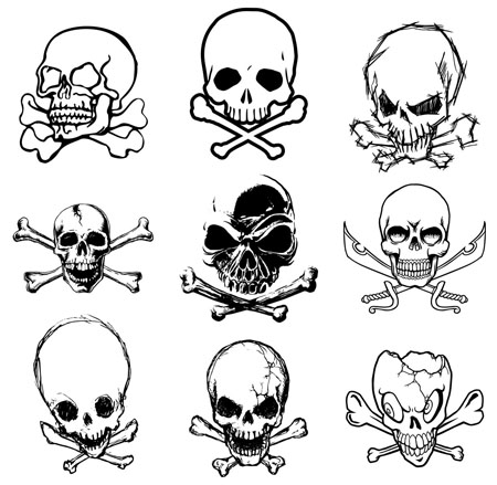 Some Models Of Skulls Tattoos  Colored Or Black It Is Your Choice