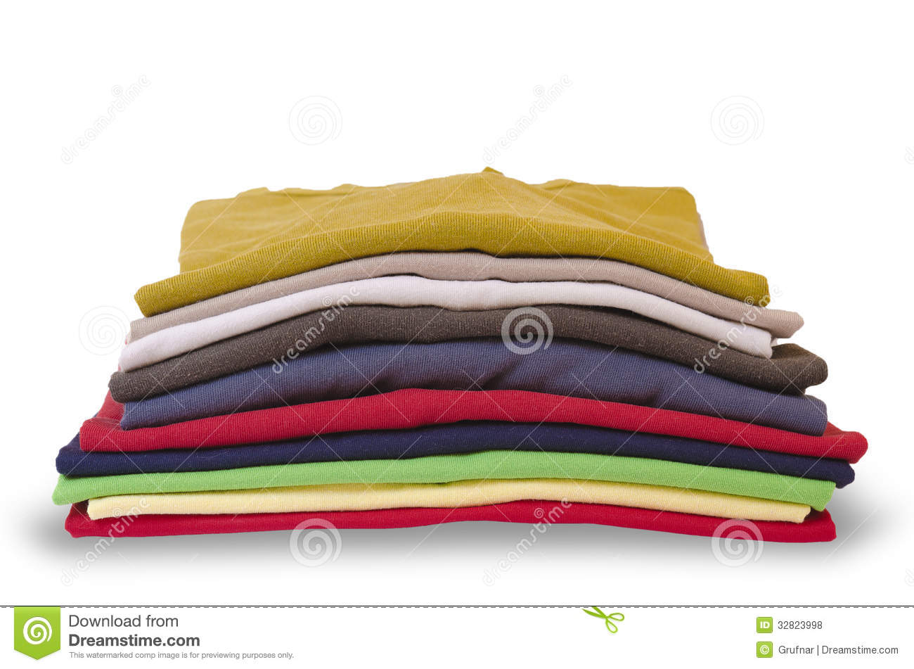Stack Of Folded Clothes Royalty Free Stock Photos   Image  32823998