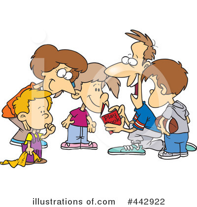 Team huddle clipart