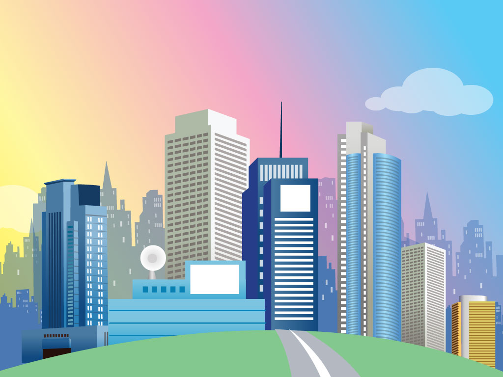 Animated Green Buildings : Cartoon city clipart suggest