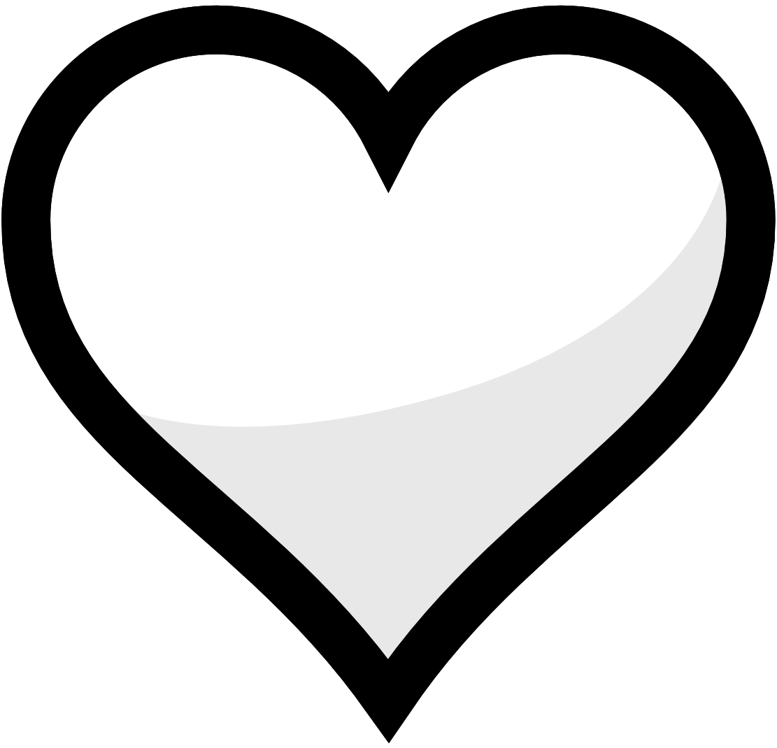 Two Hearts Black And White Clipart - Clipart Kid