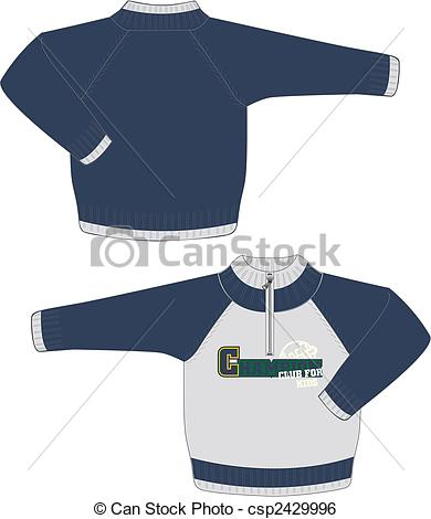 Vector   Boys Sweater Jacket   Stock Illustration Royalty Free