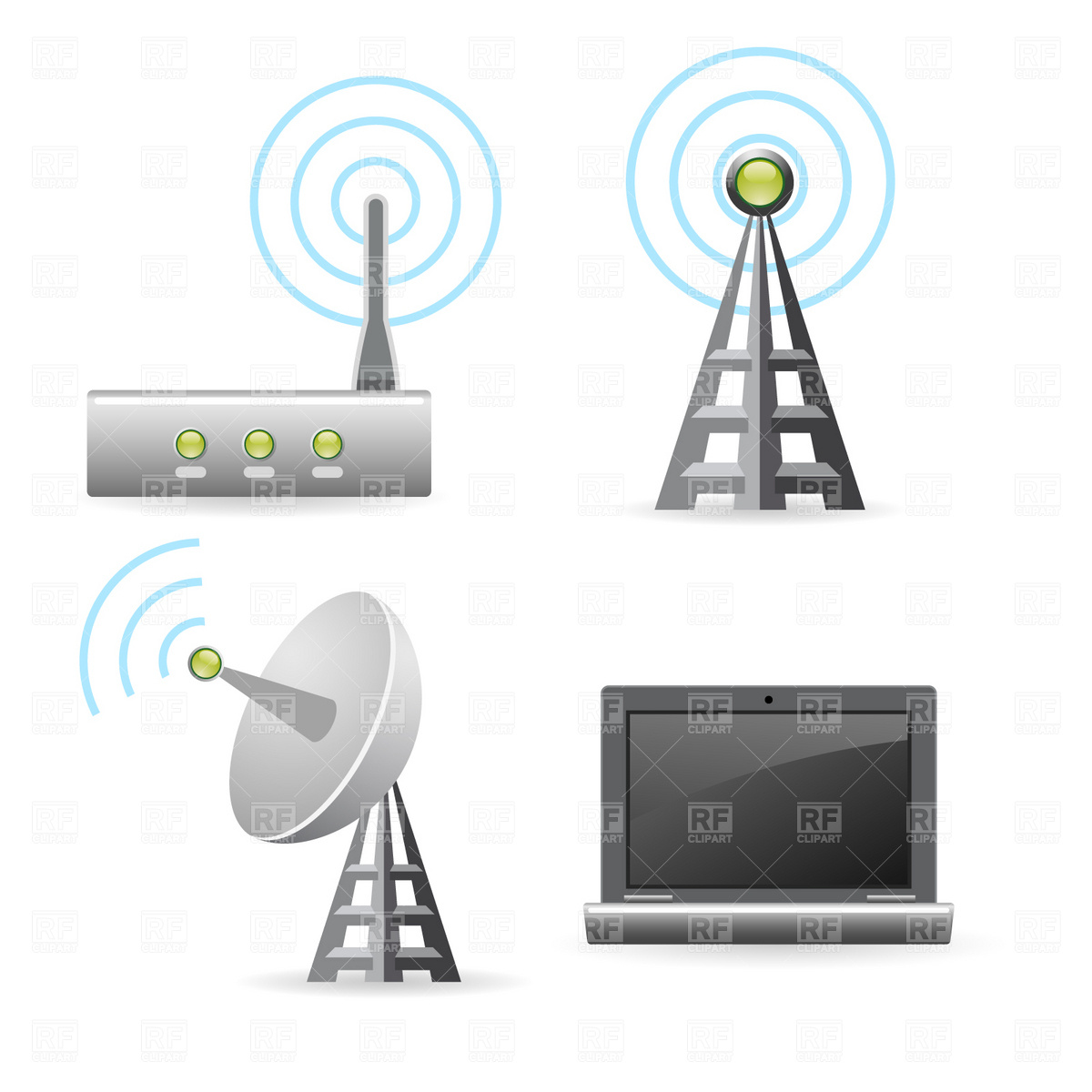Wireless Technology Icons 1854 Technology Download Royalty Free