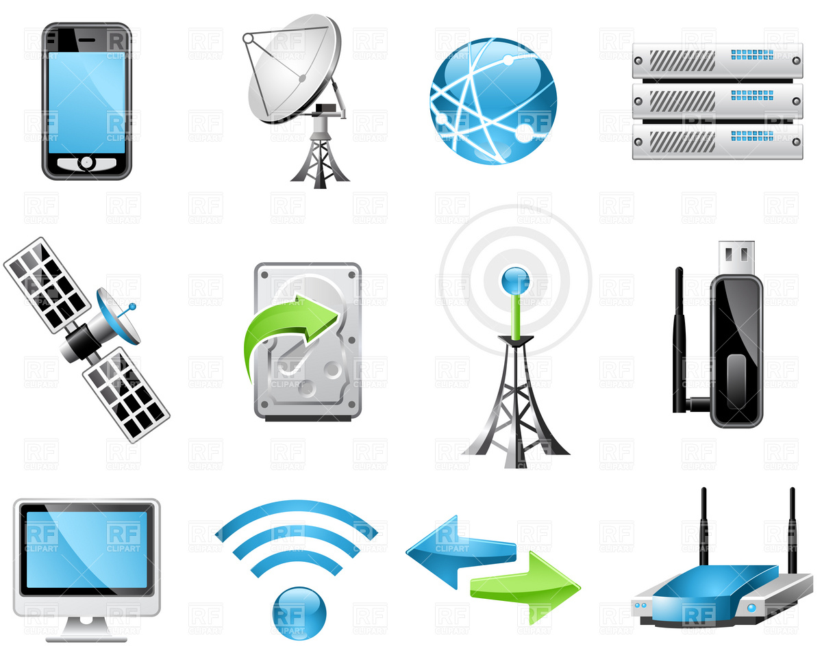 Wireless Technology Icons Download Royalty Free Vector Clipart  Eps