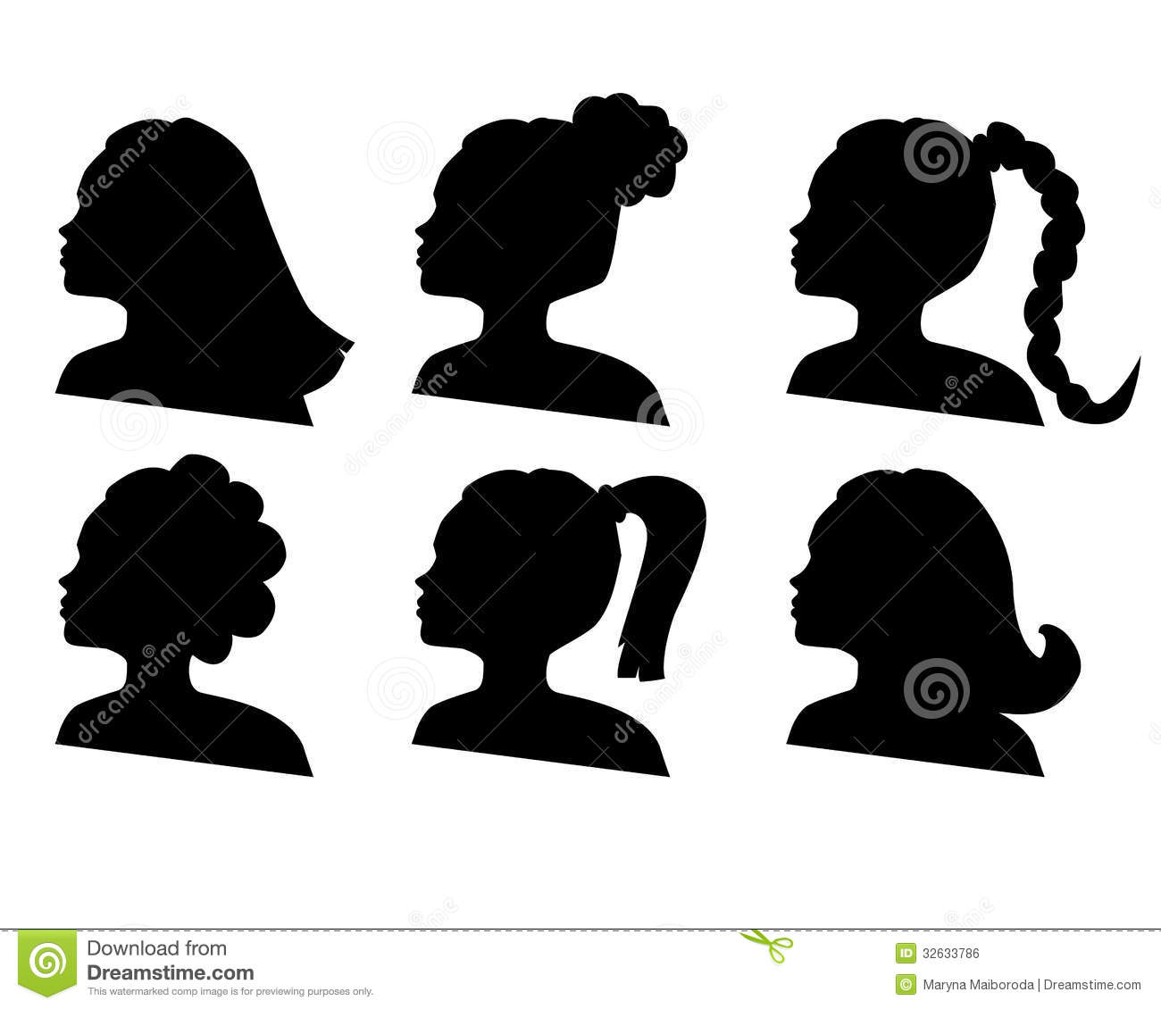 African Hair Silhouette Vector Silhouettes Of Hairdo