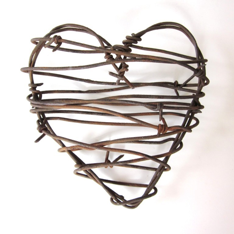 Barbed Wire Heart  Cowboy S Heart   Rustic Wedding Decor Love Wedding