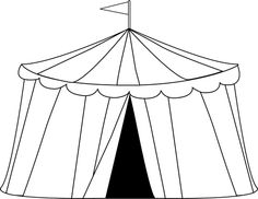 Carnival Clip Art       Circus Tent Clip Art Image   Black And White