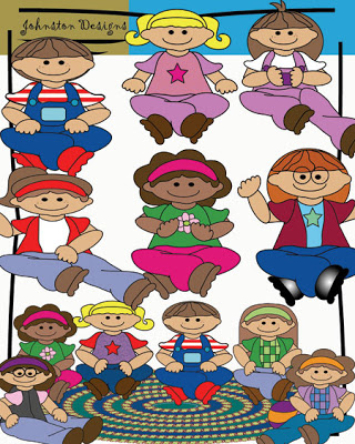 Circle Time Children Clipart