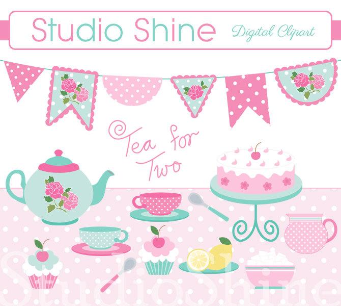 clipart tea party invitation - photo #50
