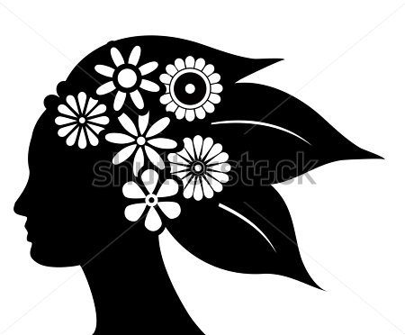 Natural Hair Silhouette Clip Art Quotes