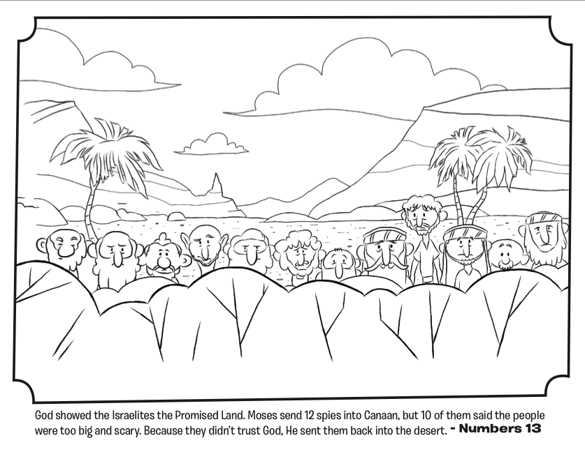 Numbers 13 Coloring Page  God Showed The Israelites The Promised Land