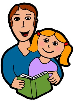 Parent Reading Clipart - Clipart Kid