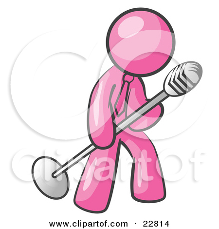 Pink Microphone Clipart - Clipart Kid
