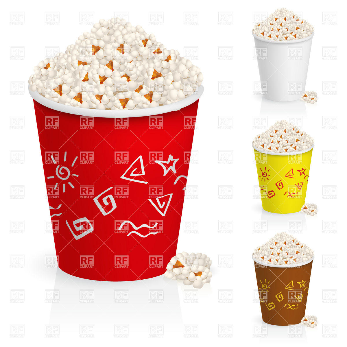 Popcorn In Paper Bucket 7785 Food And Beverages Download Royalty
