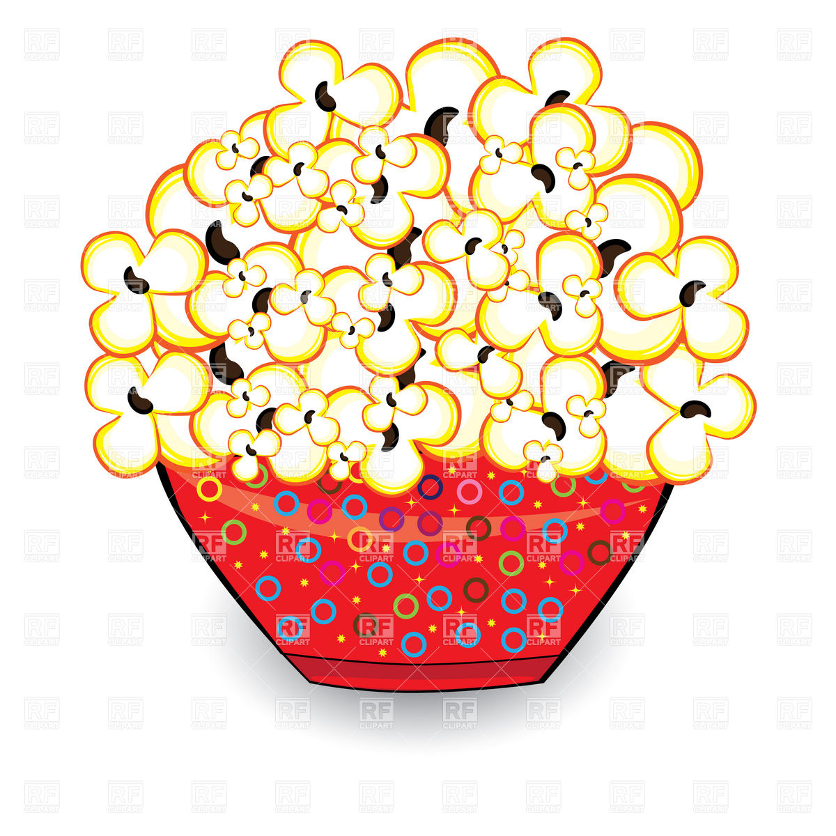 Popcorn In Red Bowl 7103 Food And Beverages Download Royalty Free