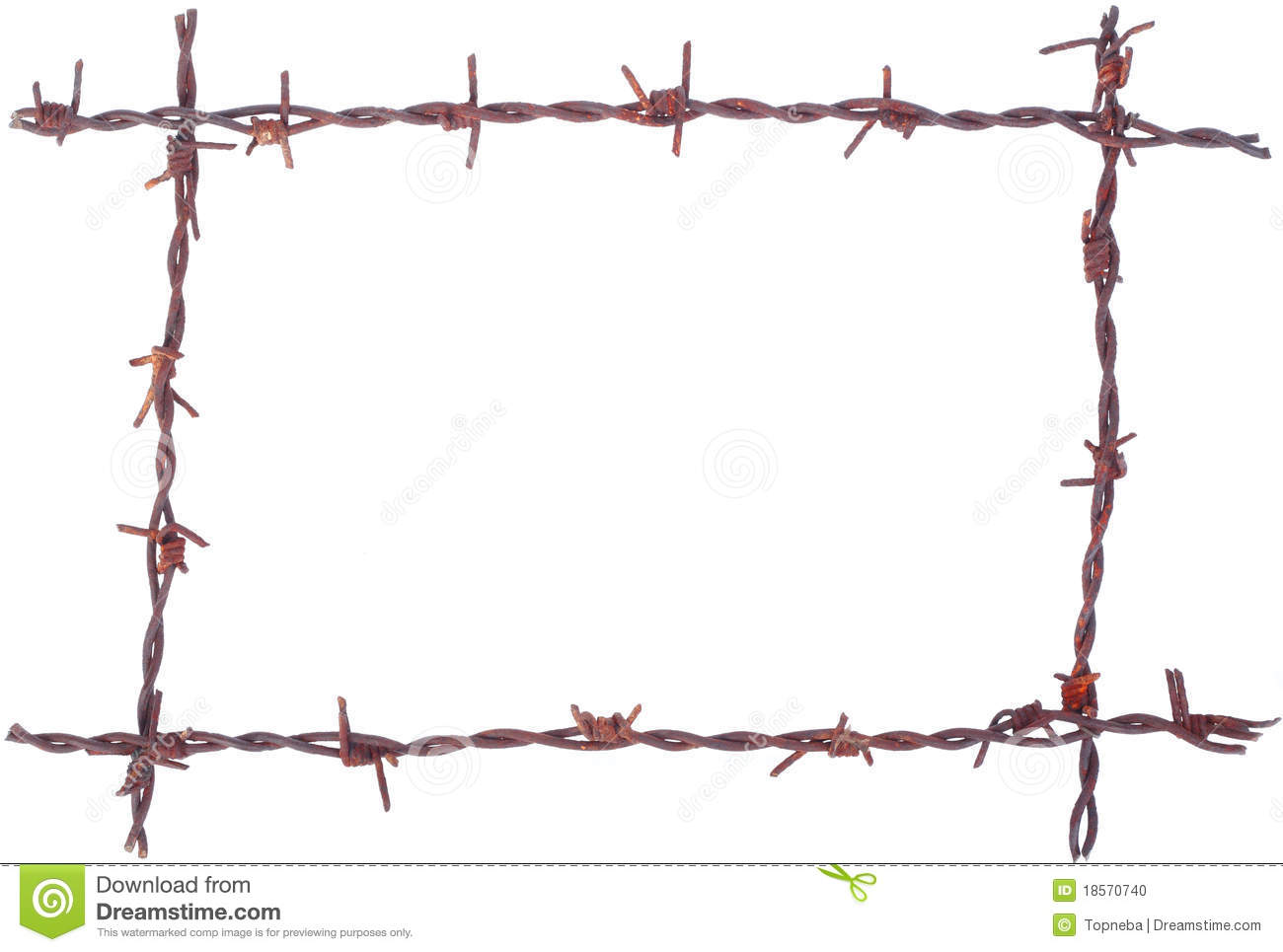 Rusty Barbed Wire Frame Stock Photo   Image  18570740