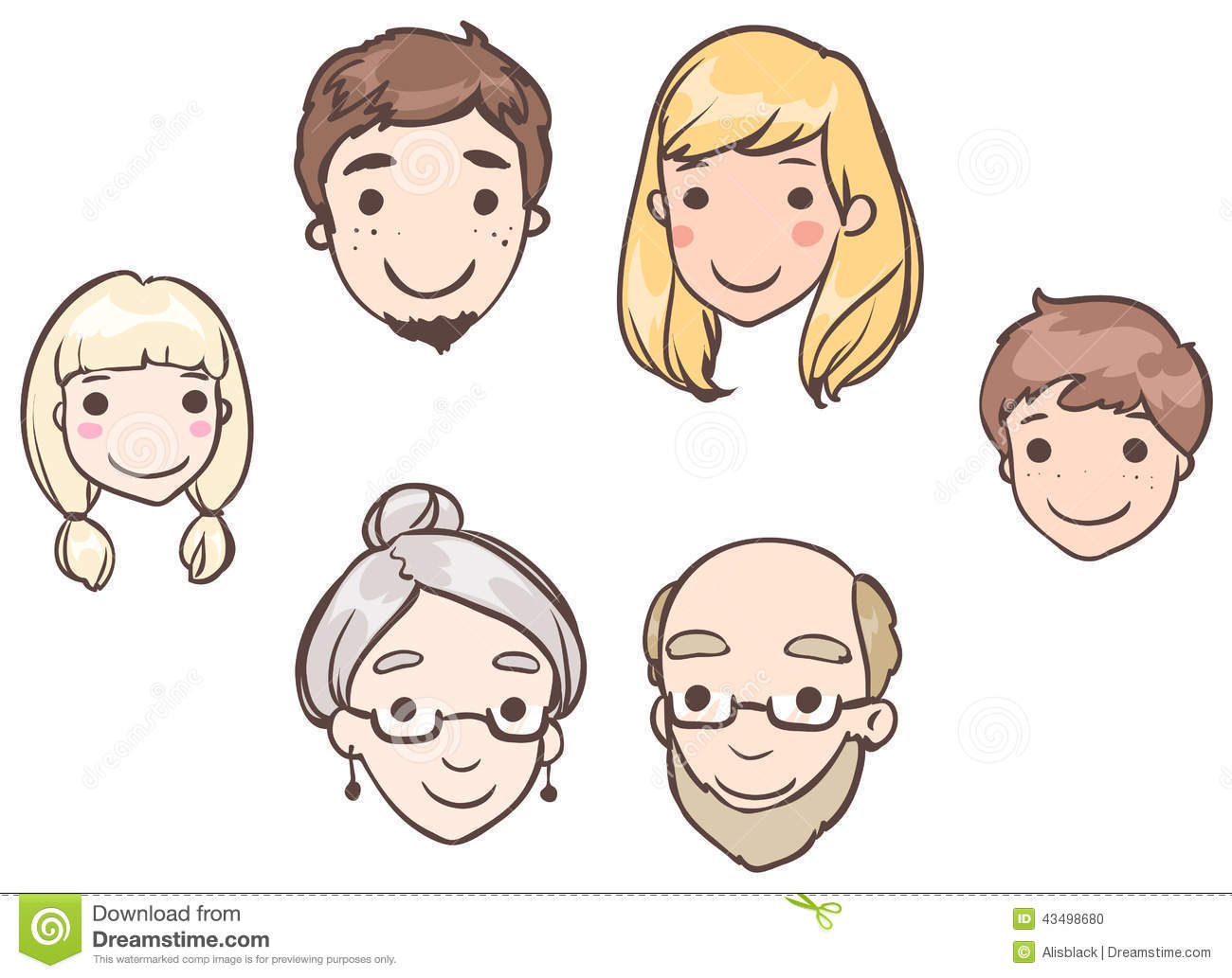 Family Members Clipart...