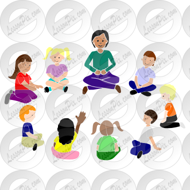 Time Stencil For Classroom   Therapy Use   Great Circle Time Clipart