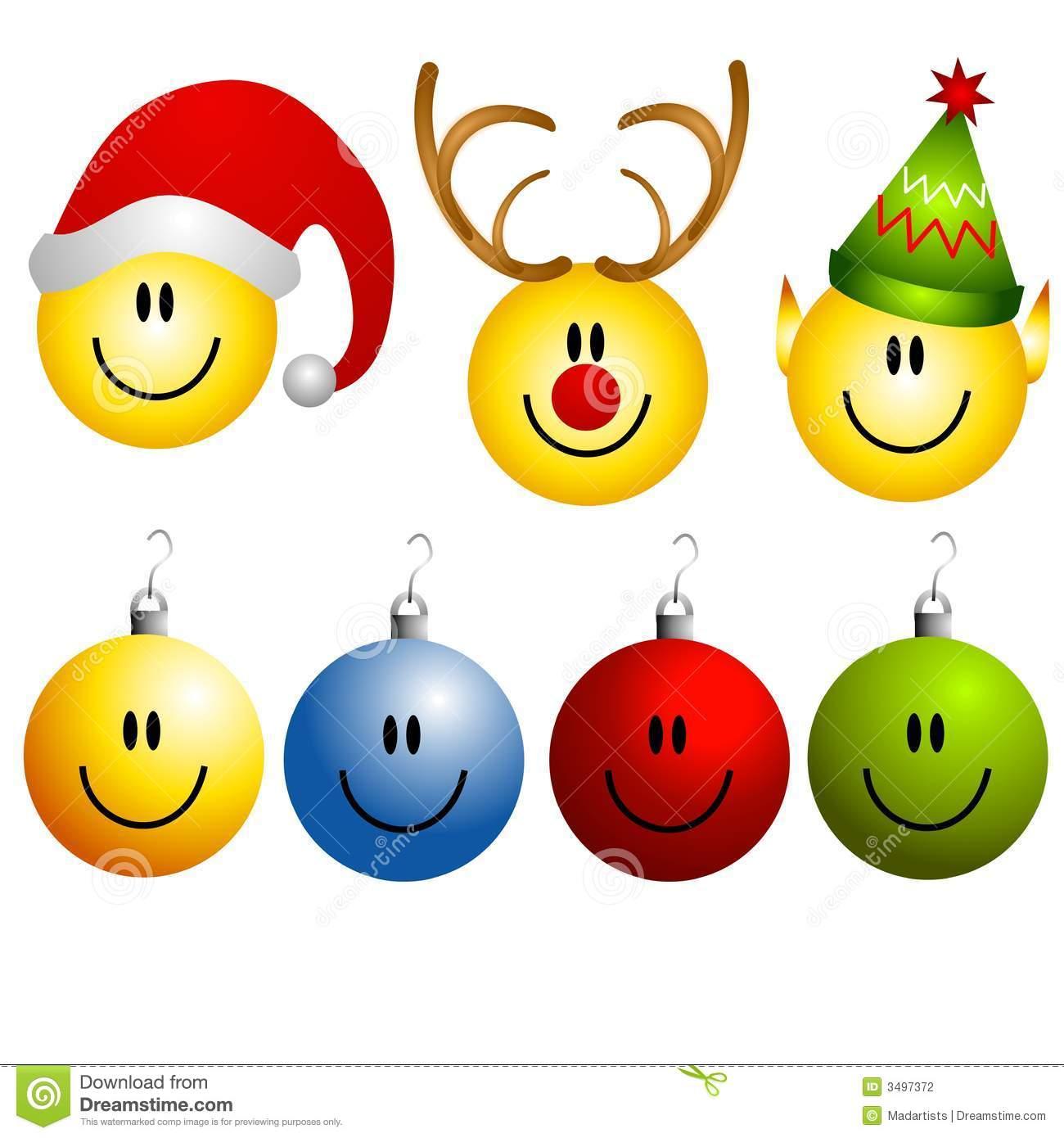 clip art christmas smiley face - photo #24