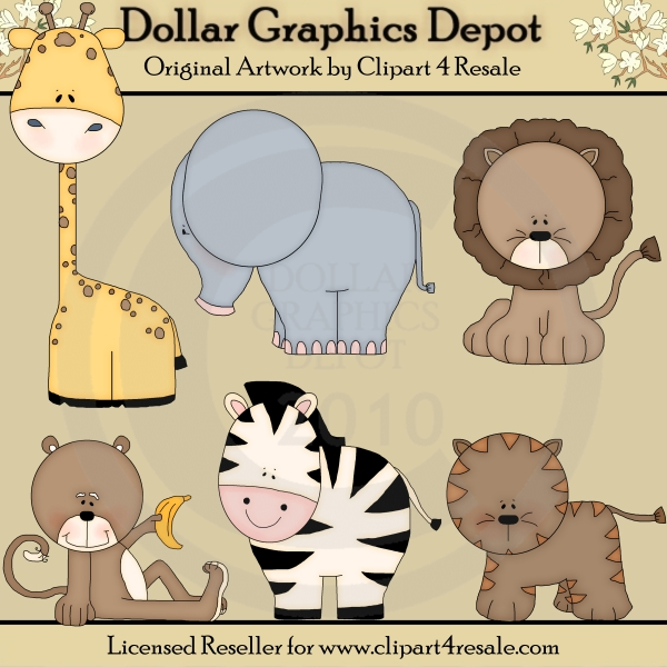 Baby Zoo Animal Clipart Baby Zoo Animals Clip Art