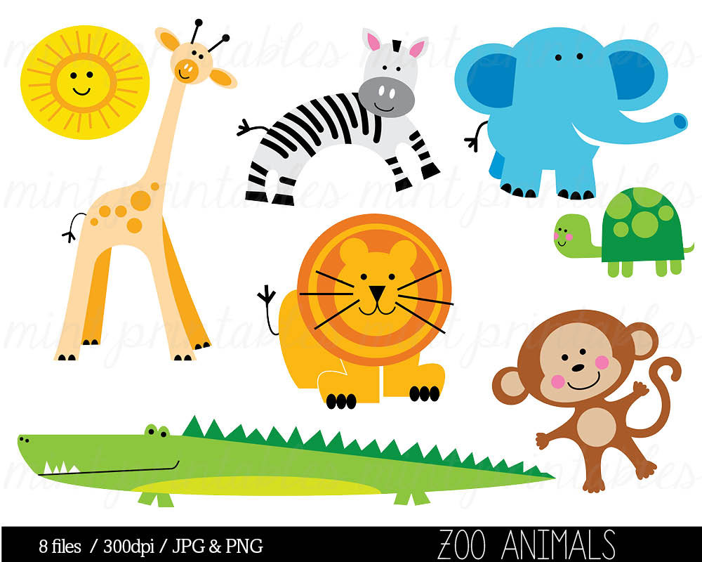 Clip Art Zoo Animal Clip Art baby zoo animals clipart kid clip art