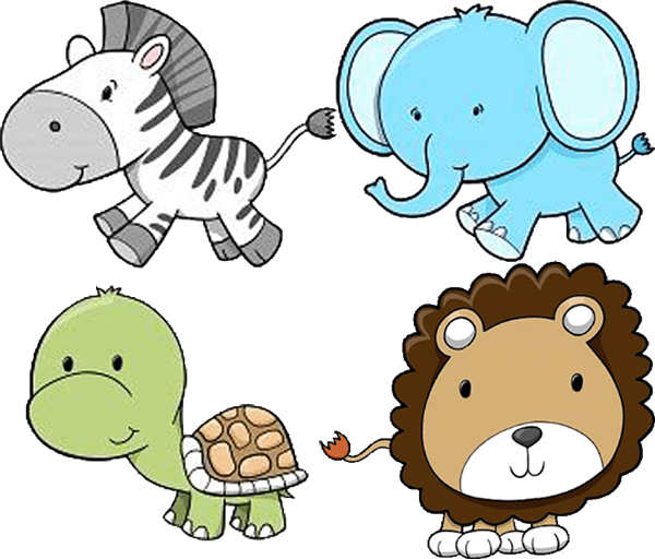 Baby Zoo Animals Clip Art Http   Order Uprintinvitations Com