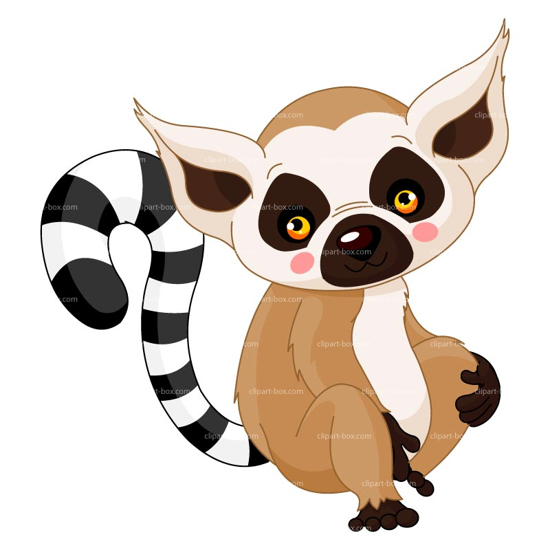 Clipart Baby Lemur   Royalty Free Vector Design