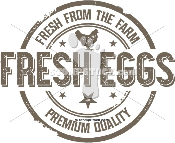 Distressed Vector Clipart  Fresh From The Farm   Premium Fresh Eggs