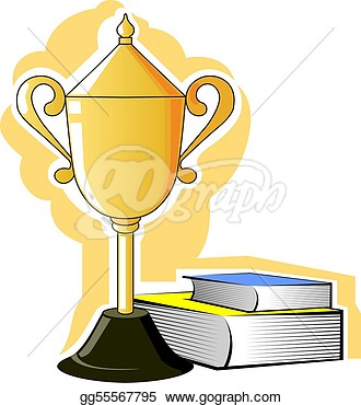 Drawing   Prize And Books   Clipart Drawing Gg55567795   Gograph
