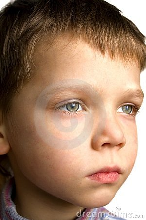 Face Of Serious Boy Royalty Free Stock Photography   Image  7824297