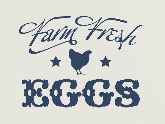 Farm Fresh Eggs Vinyl Wall Decal By Tweetheartwallart On Etsy