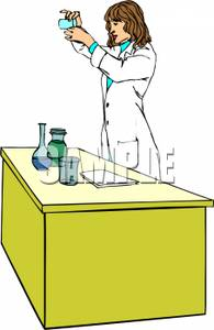 Female Chemist At Work   Royalty Free Clipart Picture