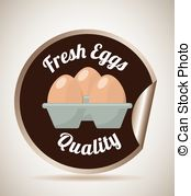 Fresh Eggs Clipart Vector