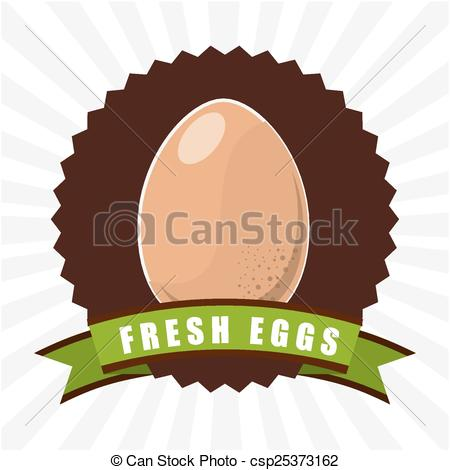 Fresh Eggs Design Vector Illustration Eps10 Graphic