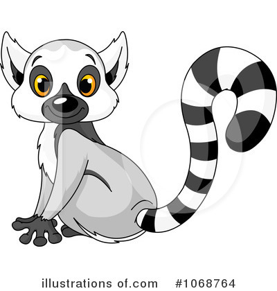 Lemur Clipart  1068764   Illustration By Pushkin