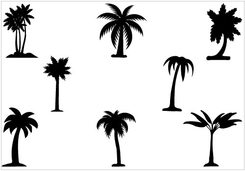 Palm Tree Silhouette Clipart - Clipart Kid