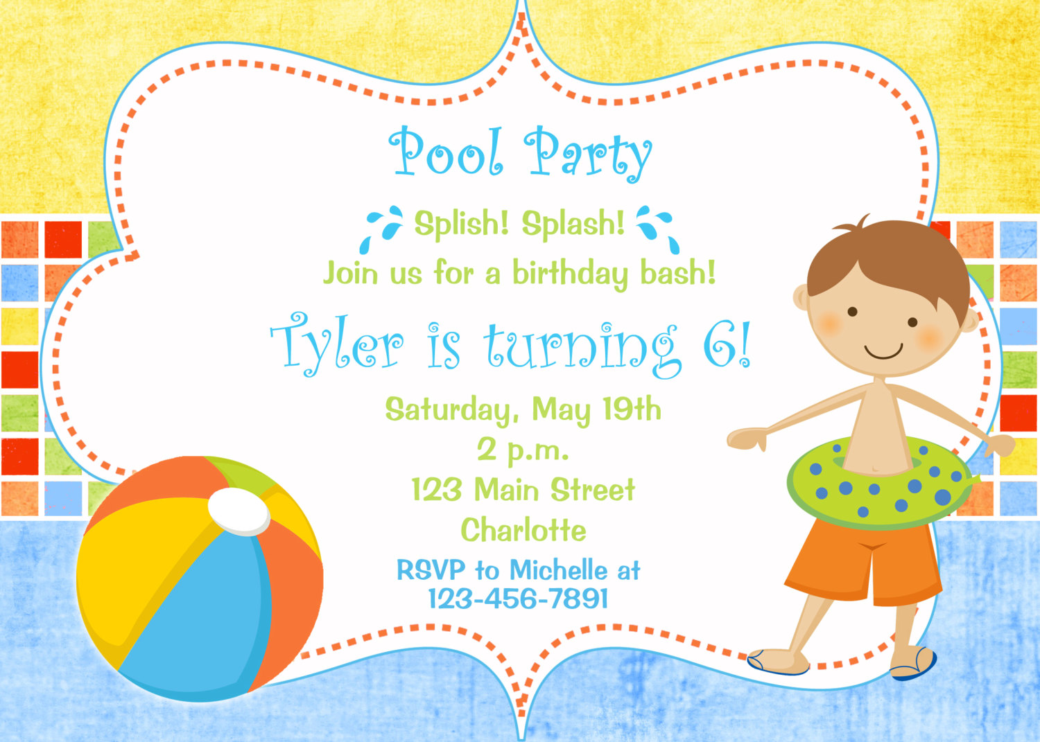 Birthday Party Swim Clipart - Clipart Kid