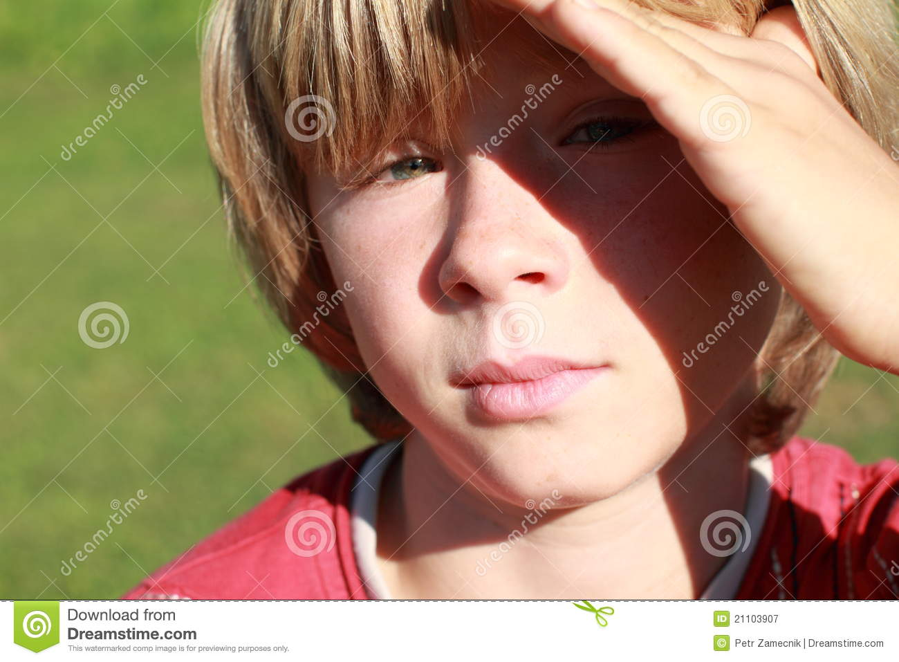 Serious Boy Royalty Free Stock Photography   Image  21103907