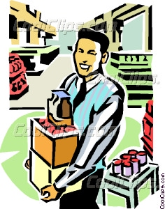 Stockroom Clerk Vector Clip Art