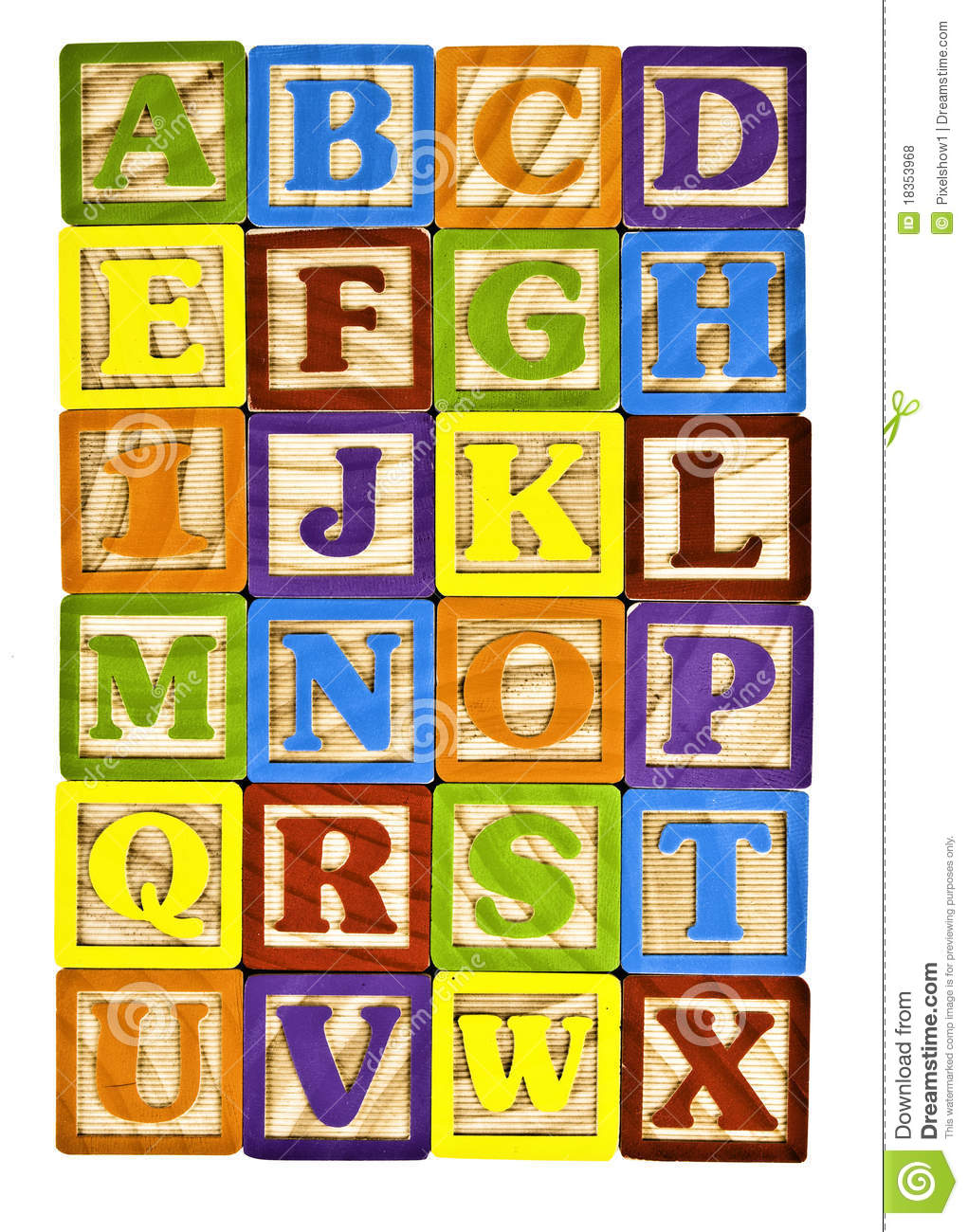 Alphabet In Block Letters Royalty Free Stock Photos   Image  18353968