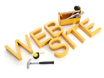 Building And Repair Of Web Sites Royalty Free Stock Photos