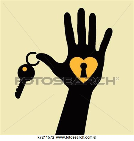 Clipart   Take The Key For My Heart    Fotosearch   Search Clip Art