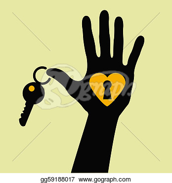 Clipart   Take The Key For My Heart    Stock Illustration Gg59188017
