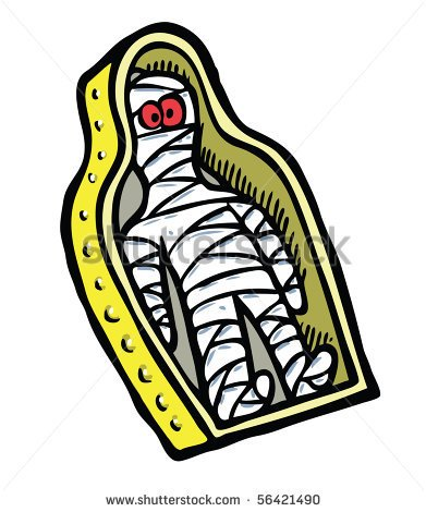 Egyptian Mummy Clipart Terrified Mummy Color