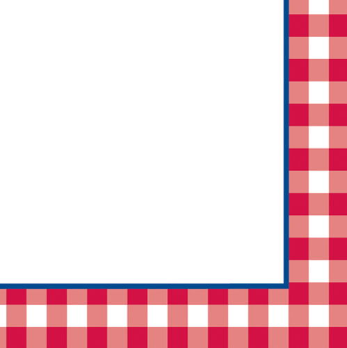 Red Gingham Border Clipart - Clipart Kid
