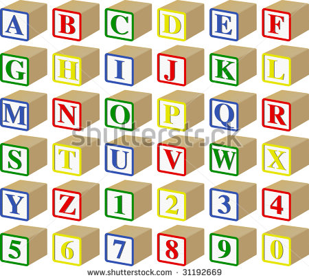 Individual Baby Blocks Clipart Three Dimensional Alphabet And
